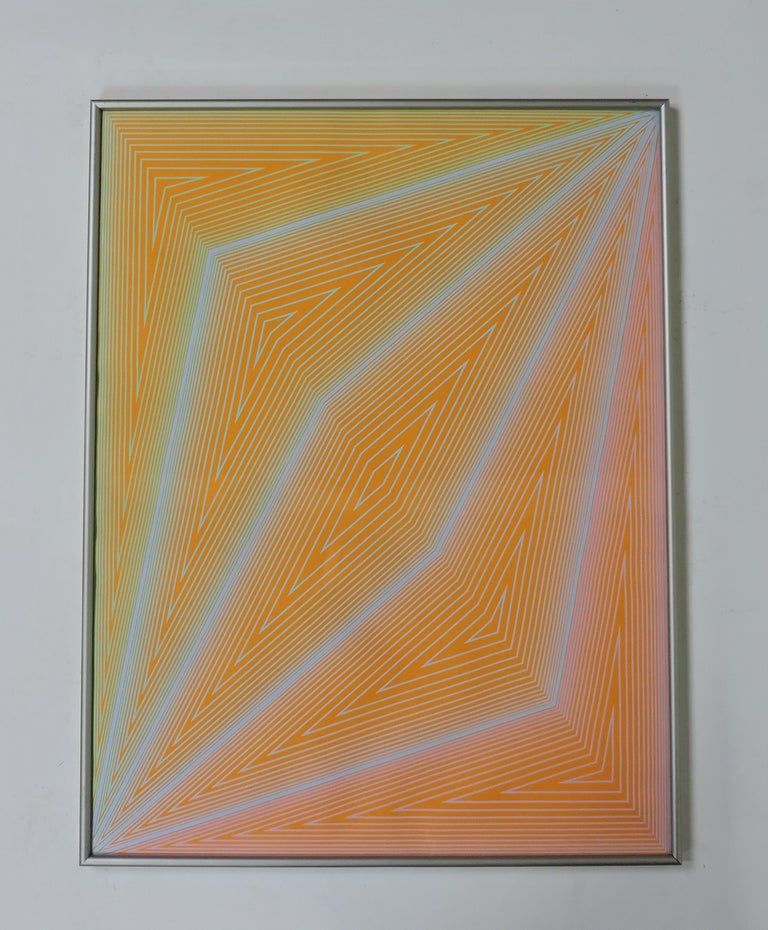 Richard Anuszkiewicz Op Art Abstract Inward Eye Serigraph, the Eye Sees More For Sale 2