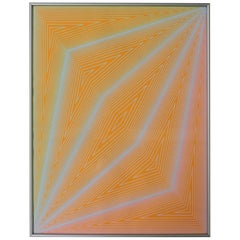 Richard Anuszkiewicz Op Art Abstract Inward Eye Serigraph, the Eye Sees More