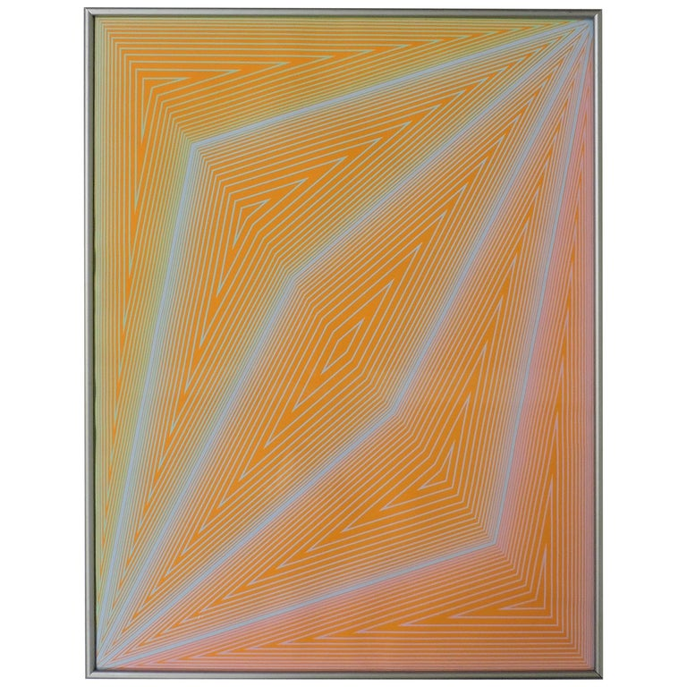 Richard Anuszkiewicz Op Art Abstract Inward Eye Serigraph, the Eye Sees More For Sale