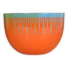 Richard Anuszkiewicz Op Art Enamel Bowl Made for the Hirshhorn Museum, DC