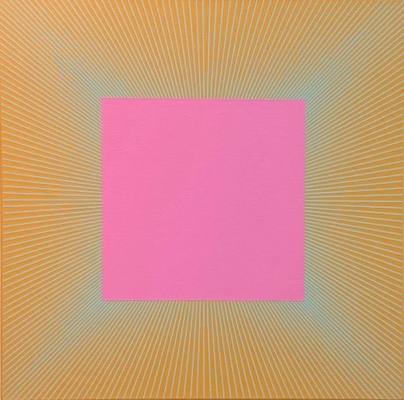 Twilight Magenta Square, 1977 - 2017, 30 x 30 inches, acrylic on canvas, RA1090
