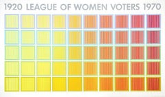1920 League of Women Voters, Large OP Art Screenprint by Anuszkiewicz 1969
