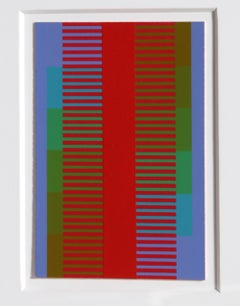 Annual Edition, OP Art Silkscreen by Anuszkiewicz 1974