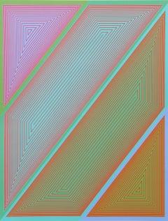 Inward Eye, #2 OP Art Serigraph by Anuszkiewicz