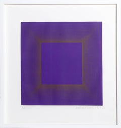 Midnight Suite (Purple with Silver), OP Art Etching by Anuszkiewicz