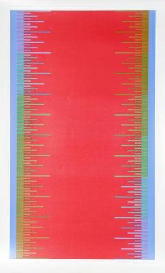 Olympics, OP Art Silkscreen by Richard Anuszkiewicz 1976