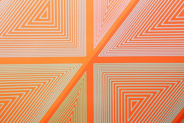 OP Art Screenprint from The Inward Eye Portfolio by Anuszkiewicz - Print by Richard Anuszkiewicz