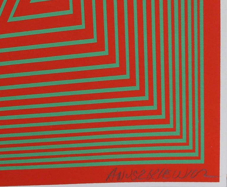 OP Art Screenprint from The Inward Eye Portfolio by Anuszkiewicz - Op Art Print by Richard Anuszkiewicz