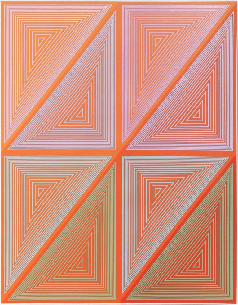 Richard Anuszkiewicz Abstract Print - OP Art Screenprint from The Inward Eye Portfolio by Anuszkiewicz