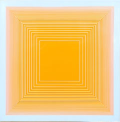 Orange Square, Silkscreen on Panel by Richard Anuszkiewicz