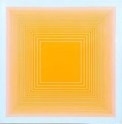 Orange Square, Silkscreen on Panel by Richard Anuszkiewicz