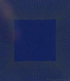 """Richard Anuszkiewicz """"Midnight Blue"""" Screenprint, 1977"""