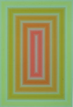 Sequential III, OP Art Silkscreen by Anuszkiewicz