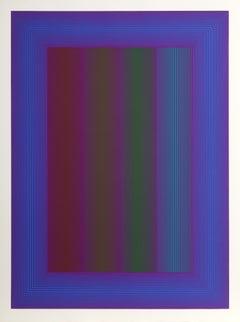 Sequential VIII, OP Art Silkscreen by Anuszkiewicz