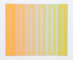 Sun Keyed, OP Art Silkscreen by Richard Anuszkiewicz