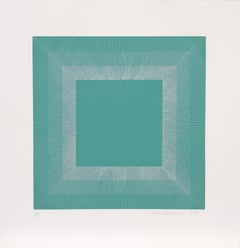 Winter Suite (Green with Silver), OP Art Etching by Anuszkiewicz