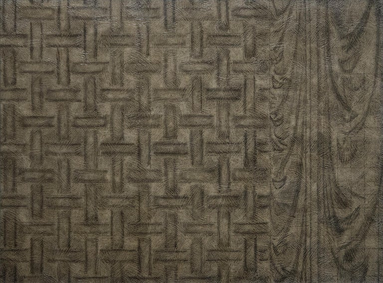 Richard Artschwager Abstract Painting - Weave Drape