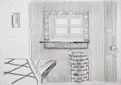 Window from Notes on a Room, Etching by Richard Artschwager