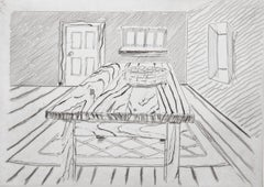 Wooden Table from Notes on a Room, Etching by Richard Artschwager