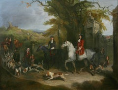 Sir Roger de Coverley and his Hounds A Sporting Portrait, signed and dated 1843