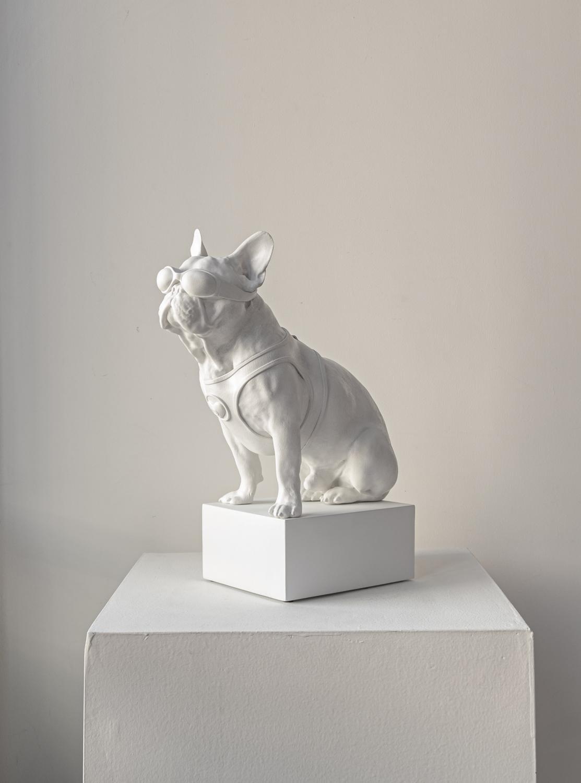 Handmade Bulldog Sculpture