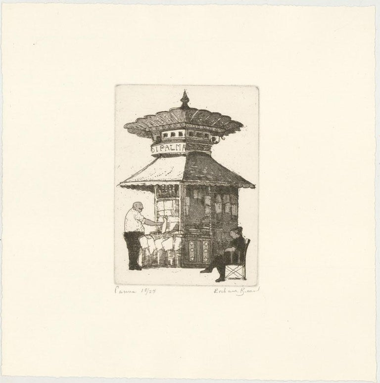 Richard Beer (1928-2017) - Signed 1983 Etching, Palma - Beige Landscape Print by Richard Beer