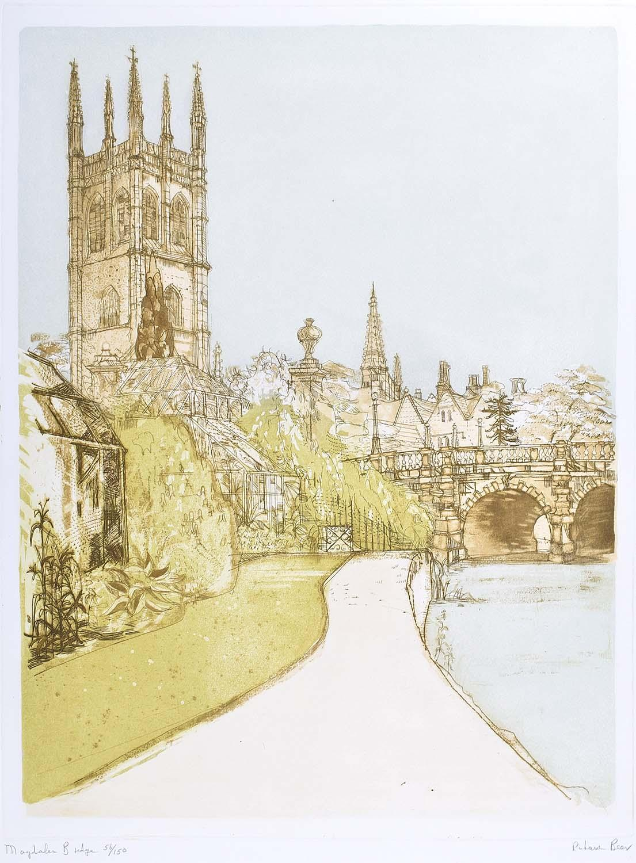 Richard Beer, 1964-65 Magdalen Bridge Oxford etching and aquatint signed print