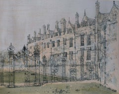 Richard Beer, 1964-65 Merton College Oxford etching and aquatint signed print