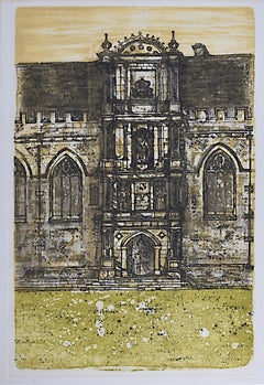 Richard Beer, 1964-65: Wadham College Oxford etching and aquatint signed print
