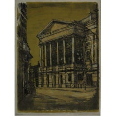 Richard Beer Covent Garden (1964) London proof print etching and aquatint