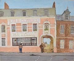 Richard Beer Hotel du Commerce French France oil painting Modern British Art