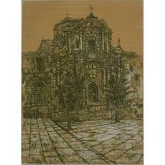 Richard Beer, 'Noto II' Sicily Etching and Aquatint (1966) Modern British Art