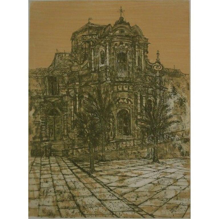 Richard Beer, 'Noto II' Sicily Etching and Aquatint (1966) Modern British Art  - Print by Richard Beer