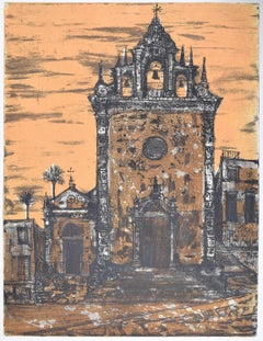Richard Beer Piazza Armerina II etching and aquatint (pink version)