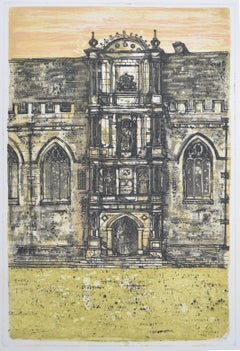 Richard Beer, 1964-65: Wadham College Oxford etching and aquatint print