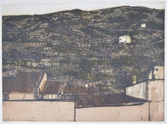 Richard Beer, 1964: Spanish Hillside etching and aquatint print