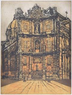 Richard Beer, 1966: Quattro Canti etching and aquatint print