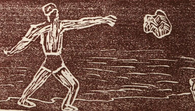 Cain and Abel - Beige Portrait Print by Richard Bosman