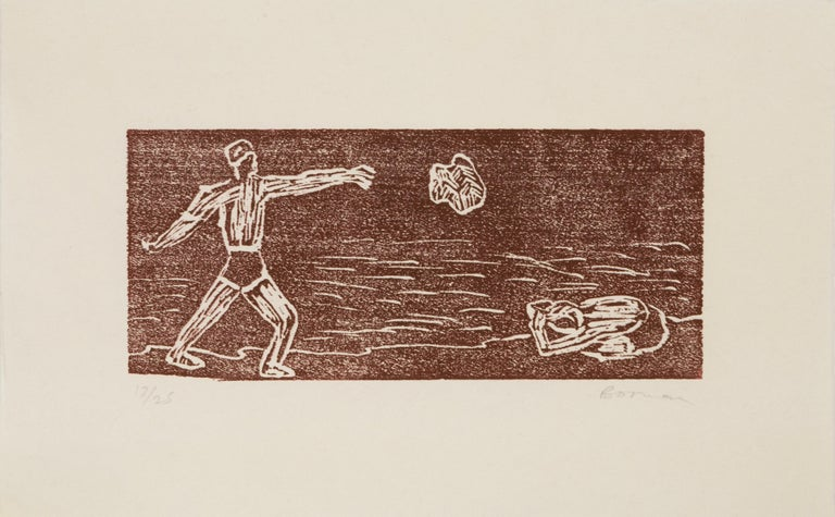 Richard Bosman Portrait Print - Cain and Abel
