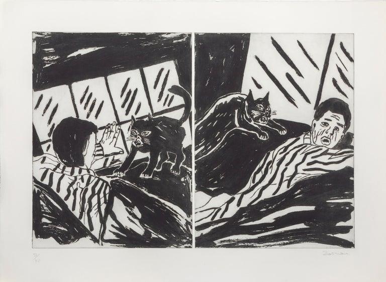 Richard Bosman Animal Print - Revenge of the Cat