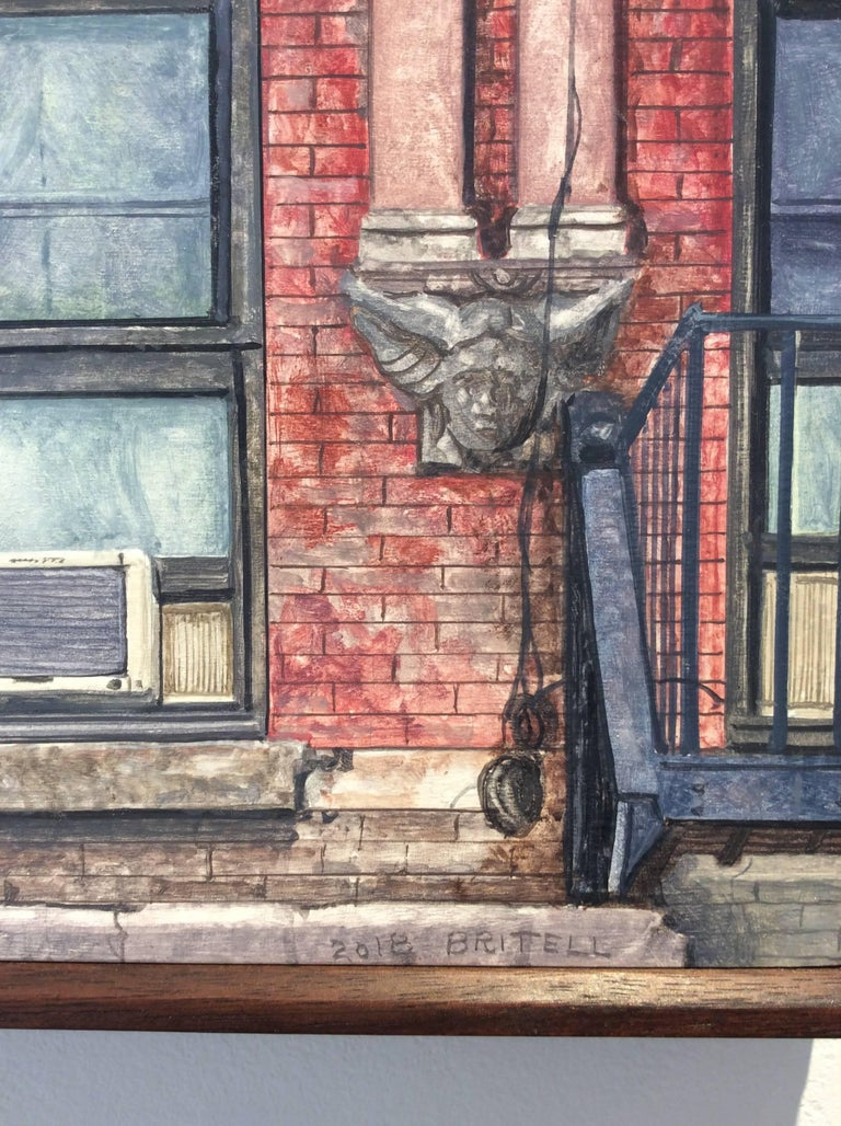 Madison Street (Photo-Realist Still Life Painting of NYC Red Brick Building) For Sale 2