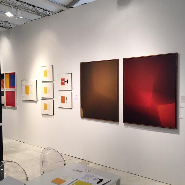Orange, color photogram and paper negative, Untitled #30 - Photograph by Richard Caldicott