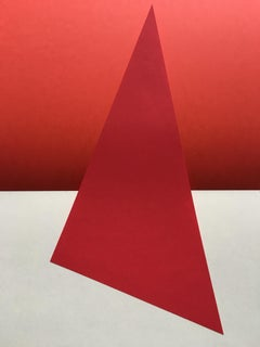 Red and white, abstract, geometry, Signals#4