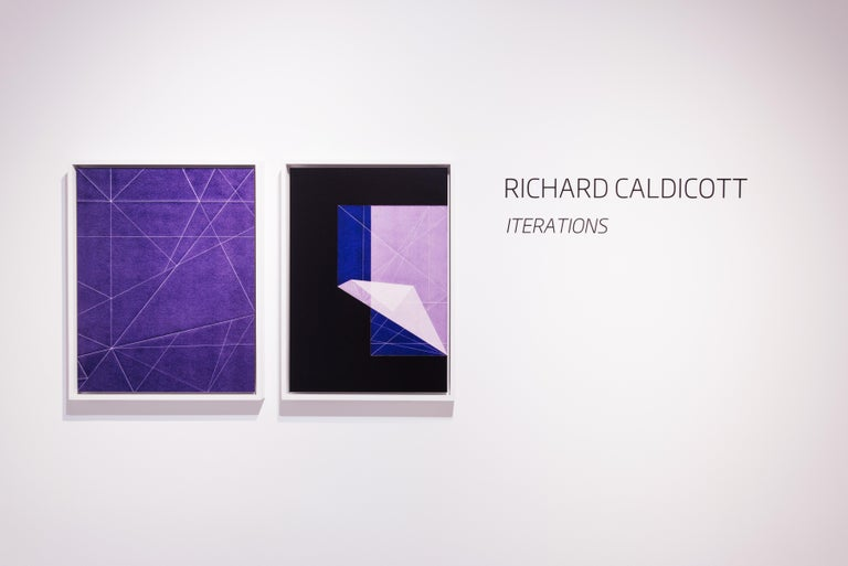Iteration, purple, abstraction, line - Photograph by Richard Caldicott