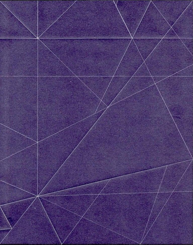 Richard Caldicott Abstract Photograph - Iteration, purple, abstraction, line