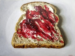 JAM ON BREAD, Still Life, Food, Pop Art, Photorealism, Kitchen