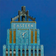 L.A. DECO (EASTERN COLUMBIA BUILDING LOS ANGELES), shades of blue, photo-realist