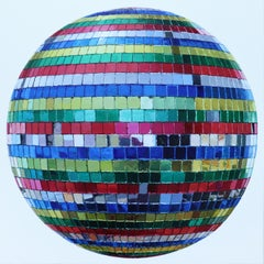 Rainbow Disco Ball, Contemporary Realism, Mirror, Multicolored
