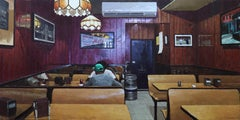 Scarr's Pizzeria, Contemporary Realism, Interior, Architecture, Figurative