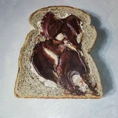 SLICE OF BREAD WITH NUTELLA, Still Life, Food, Pop Art, Photorealism, Kitchen